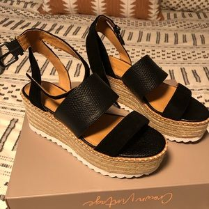 NEW Crown Vintage Daylen Espadrille wedges